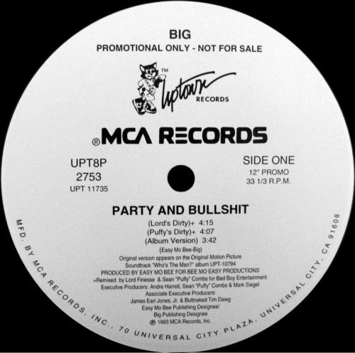 Party And Bullshit The Notorious B.I.G.
